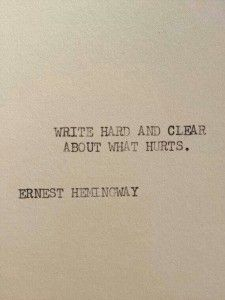 Hemingway Quotes On Love Amusing The Hemingway 3 Typewriter Quote On 5X7 Cardstock  Sundaykindof