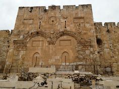 Eastern gate in Jerusalem where, according to the Bible, Jesus will enter when He returns! (V)