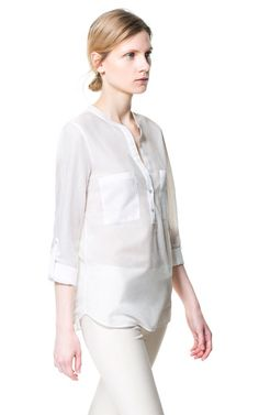 SHIRT WITH POCKETS from Zara