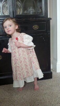 Vintage Style Cream Slip Dress & Pinafore by RememberWhenCC, $52.00
