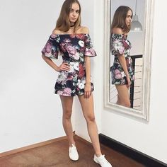 Love this off the shoulder Playsuit | Shop the @keepsakethelabel 'Stand Still' Playsuit in Dark Paradise in store & online at Lookbook | RG via @piperlane  #keepsakethelabel #lookbookboutique #offshoulder #trending #fashion #newarrivals #ausfashionlabels #afl #ausfashion #floral #alburyboutique
