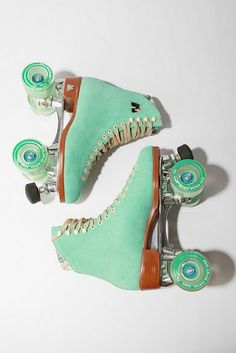 """roller skates...I miss those days of holding hands at the skating rink while watching Madonna's """"Material Girl"""" video..."""