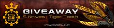 Check out this CSGOROYALE.NET is doing Giveaway on 5X TIGER TOOTH KNIVES!