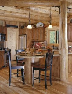 Donnelly Simple Rustic Cabin Kitchen