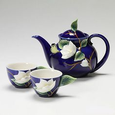 Franz collection - Magnolia Design - Teapot and 2 cups