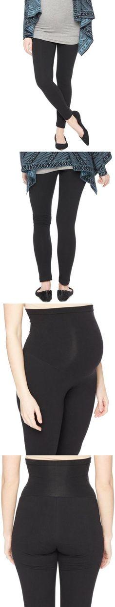8ca7d4c21484f Pants 63857: Motherhood Secret Fit Belly Maternity Leggings Black Medium ->  BUY IT NOW ONLY: $49.51 on eBay!
