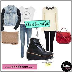 ¡#ElegíTuOutfit! ¿Rocker o romántica?  Conseguilas en➜ www.tiendadcm.com/venta/Berlin+Black/84754