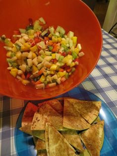 January 2013 Cinnamon: Manga Salsa and Toasted Tortilla Chips by Wendy.