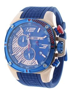 Technosport TS-100-8F1 Men's Watch Formula 1 Royal Blue & Rose Gold Swiss Chronograph Date