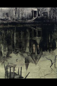 """Santiago Caruso: """"The Spectral House"""" Book Cover, 2013"""