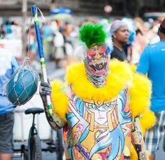 carnaval carioca / os temidos clóvis bate-bolas
