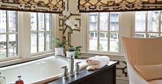 Gorgeous romans in this space - #TODesign #interiordesign - via Robert Brown Interior Design - http://ift.tt/1NJm3Eb interiordesign