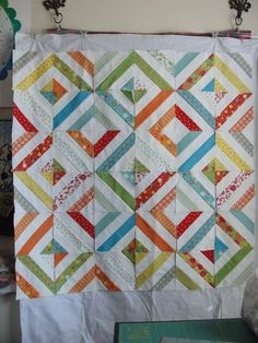jelly roll quilt patterns | jelly roll quilt - love this pattern! | Quilting