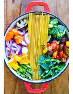 One pot pasta légumes