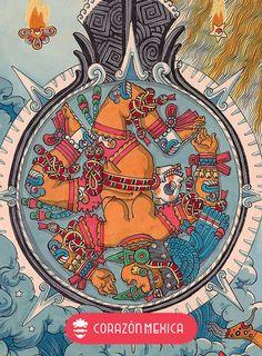 Aztec Tattoo Designs, Name Tattoo Designs, Aztec Religion, Art Chicano, Aztec Culture, Geometric Tattoo Arm, Aztec Art, Indigenous Art, Mexican Art
