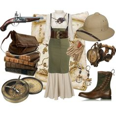 """""""Steampunk Explorer"""" by cherrygoodday on Polyvore"""