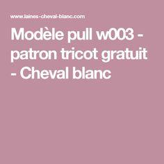 Modèle pull w003 - patron tricot gratuit - Cheval blanc