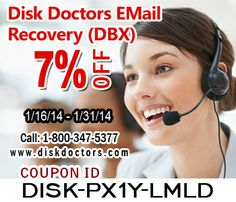 #DiskDoctors gives you 7% discount on EMail Recovery (DBX), the expiry date is 31/01/2014.