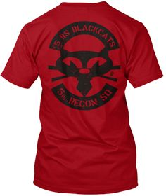 5 Rs Blackcat Single Dark Deep Red T-Shirt Back