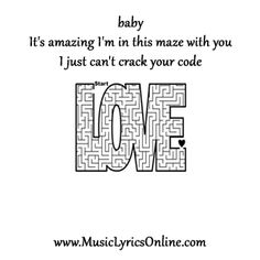 Justin Timberlake and Jay-Z - Holy Grail music lyrics, song lyrics, songs, song quotes, music quotes, it's amazing I'm in this maze with you, I just can't crack your code. (click image for full lyrics) #musiclyrics #love #jayz #holygrail