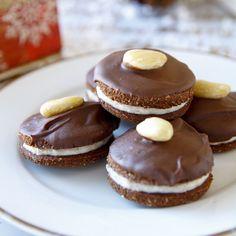 Fitness išelské dortíčky - vánoční cukroví - recept Bajola Christmas Sweets, Christmas Candy, Trifle, Doughnut, Nutella, Cheesecake, Food And Drink, Gluten Free, Desserts