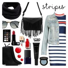 """""""Yoins - Big, Bold Stripes"""" by dora04 ❤ liked on Polyvore featuring NARS Cosmetics, Allies of Skin, Gucci, Topshop, Helmut Lang, Ray-Ban, Maybelline, BoldStripes, yoins and yoinscollection"""