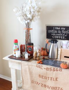 Coffee Station for Holiday Guests to enjoy!