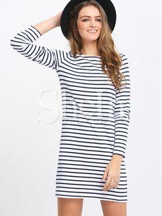White+Striped+Crew+Neck+Shift+Dress+16.42