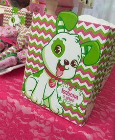 Puppy favors at a Strawberry Shortcake birthday party! See more party ideas at CatchMyParty.com!