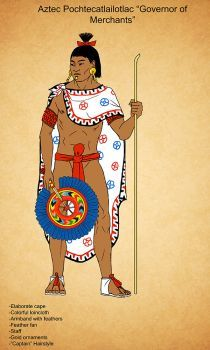 Aztec/Mexica (modern depiction of a governor of merchants) Aztec Clothing, Cowgirl Clothing, Cowgirl Fashion, Tribal Fashion, Aztec History, Aztec Costume, Aztecas Art, Aztec Empire, Ancient Aztecs