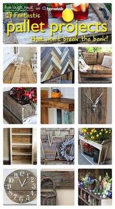 Awesome DIY pallet projects! Furniture, home decor - pallets are great for so many different things!