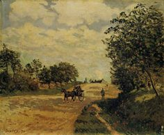 The Road from Mantes to Choisy le Roi, 1874, Alfred Sisley Medium: oil on canvas