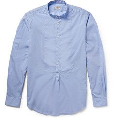Massimo AlbaWashed Cotton-Voile Henley Shirt