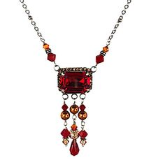 Swarovski Siam Red Emerald Cut Crystal and Pearls Pendant Jewelry Necklace HisJewelsCreations http://www.amazon.com/dp/B013J6DGVG/ref=cm_sw_r_pi_dp_7d-Wvb03DTDS9