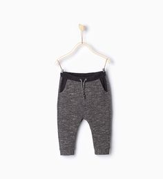 Trousers with contrasting waist-Trousers-Baby boy-Baby   3 months - 3 years-KIDS   ZARA Hungary