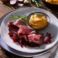 Roastbeef mit Portweinschalotten