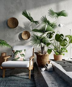 hygee home interiors Decor, Balcony Decor, Tropical Interior, Living Room Decor, Home Decor, House Interior, Home Deco, Interior Design, House Plants Decor