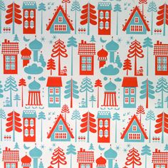 Tingleby wallpaper in red and blue by ISAK