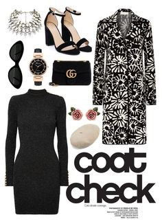 """""""Untitled #202"""" by breonnau on Polyvore featuring Balmain, Nasty Gal, Gucci, Tory Burch, Dolce&Gabbana and statementcoats"""