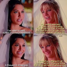 """#Glee 6x08 """"A Wedding"""" - Santana and Brittany vows ❤️"""