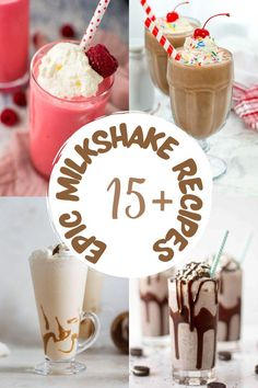 Milkshakes are like comfort food to me. They are a soothing, refreshing, dessert, and drink all rolled into one. The milkshake flavor combinations are endless! Be sure to check out our Epic Milkshake Recipes. I'm sure you'll find a few you will NEED to try! #recipes #milkshakes #getinmybelly Milkshake Recipes, Milkshake Flavours, Milkshakes, Drink Recipes, Dessert Recipes, Summer Drinks, Fun Drinks, Beverages, Good Food
