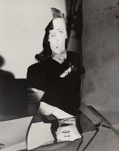 Tedi Thurman, New York, photographed by Erwin Blumenfeld, late 1940s.