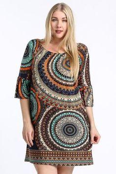 Online Clothing Boutique   Kelly Brett Boutique - Plus Size Medallion Shift Dress Navy, $42.00 (http://www.kellybrettboutique.com/plus-size-medallion-shift-dress-navy/)