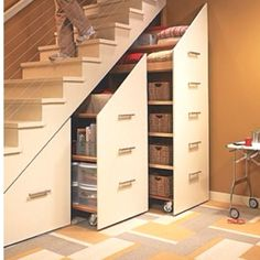 Understairs Storage Idea