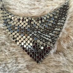 """Gorgeous Gunmetal Tone Chain Mail Bib Necklace Gorgeous Gunmetal Tone Chain Mail Bib Necklace. Feels Great On Your Skin! ✨On Trend✨Checkout My Closet For Gold Tone Option.  Adjustable Length Apx. 17"""" - 20"""". Costume JewelryBRAND NEW, Arrives Beautifully Wrapped  Jewelry Necklaces"""