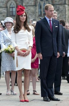 Kate & William Reis White Dress Tour Of Canada 1 July 2011