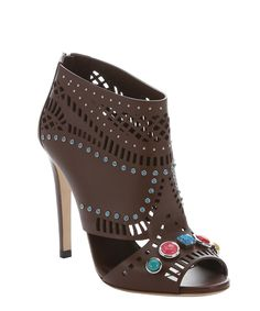 nut brown leather 'Lika' open toe sandals