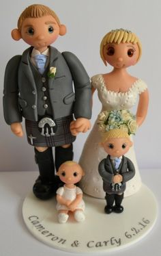 Family Wedding Cake Topper    NON edible and personalised to look like you!    Tinylove Wedding Cake Toppers :: Gallery