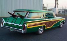 A station wagon built for SOBE beverage Mercury Surf Wagon. A station wagon built for SOBE beverage company. Ford Motor Company, Muscle Cars, Vintage Cars, Antique Cars, Station Wagon Cars, Woody Wagon, Pontiac, Us Cars, Car Ford