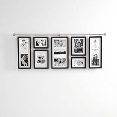 I love these hall gallery frame sets.  I have four in my house, from red envelope.com